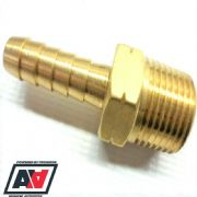 1/4NPT Thread To 8mm Tail Push On Hose Brass Manifold Adaptor Fuel Air Water